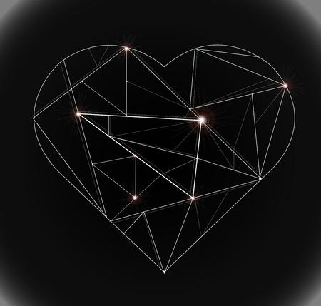 heart technology Ilustração