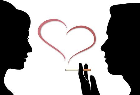 simbolo uomo donna: uomo e donna fumo