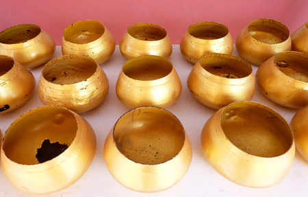 tradition: monks bowl , gold alms bowls