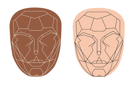 beautiful face shape , perfect face Illustration