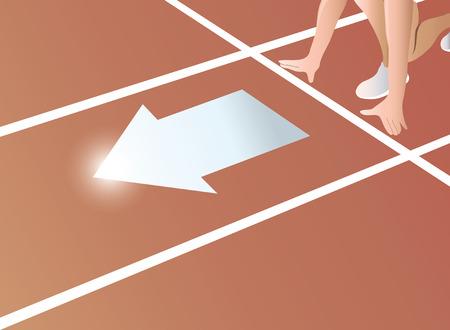 Start Track running vector