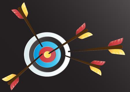 Target Archery art vector background