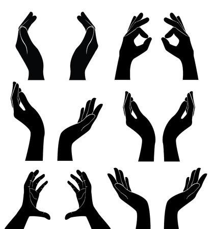 free hands holding vector Иллюстрация