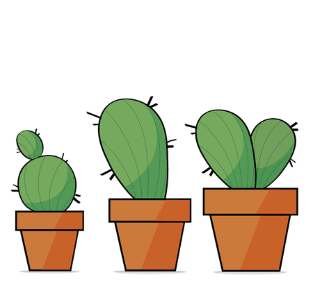 lovely cactus  art vector background