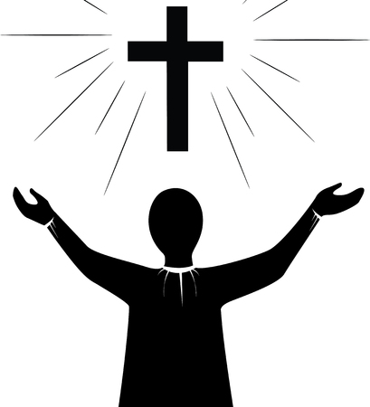 Pray to Jesus Christ art vector