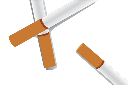 cigarette pack: cigarettes and color background vector Illustration