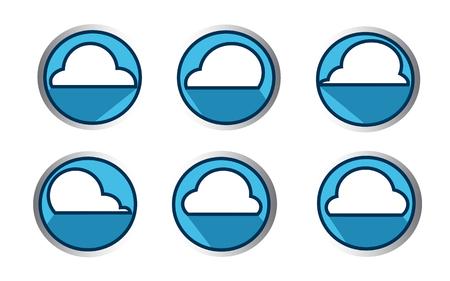 Cloud icon vector ,  Cloud illustration. Flat design style