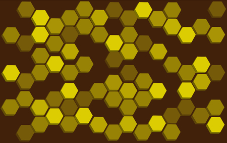beeswax: Bee hive honeycomb background illustration