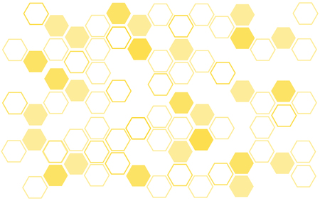 Ilustracja tło ula o strukturze plastra miodu