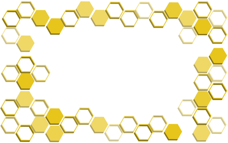 Bee hive honeycomb background illustration