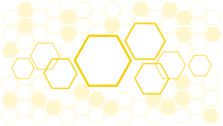 Bee hive honeycomb background illustration