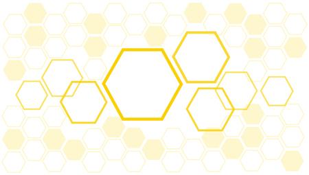 Illustrazione di sfondo a nido d'ape di ape
