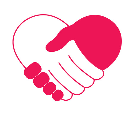 holding hand in heart shape vector