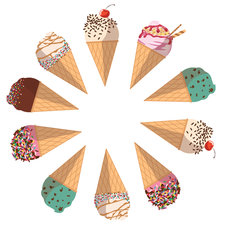 ice cream vector Illustration