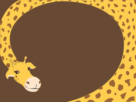 Giraffe cartoon illustration.
