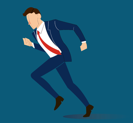 Running business-man, reaching Business concept illustration. Illustration