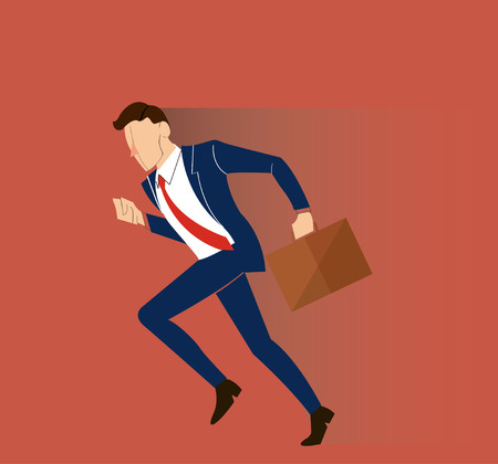 Business-man in a hurry illustration.