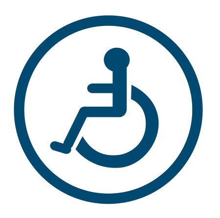 reserved: Bathroom for persons with disabilities , disabled toilet , Bathroom signs Illustration