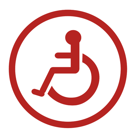Bathroom for persons with disabilities , disabled toilet , Bathroom signs Illustration