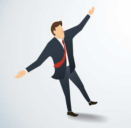 Man stand  and stretch the arms vector