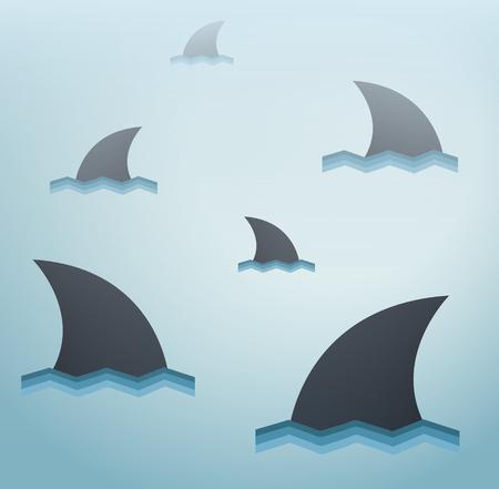 Shark vector achtergrond Stock Illustratie