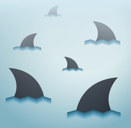 Shark vector background