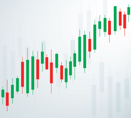 Candlestick stock exchange background vector. Çizim