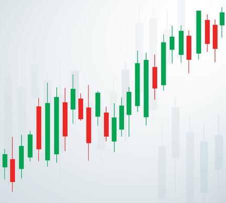 Candlestick stock exchange background vector. Illustration