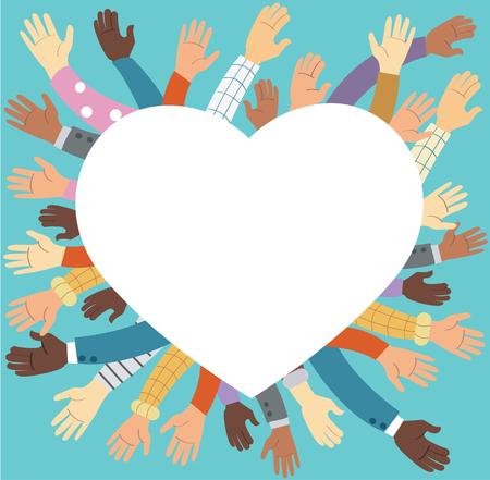 Mains levées bénévolement
