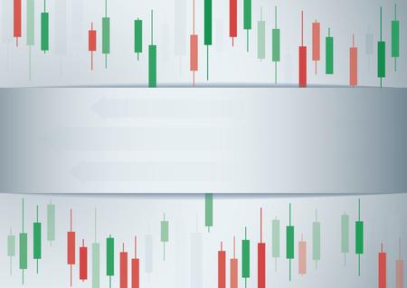 ローソク足の証券取引所の背景のベクトル  イラスト・ベクター素材