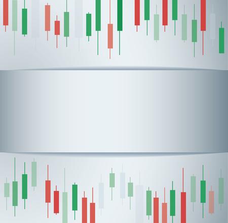 Candlestick stock exchange background vector