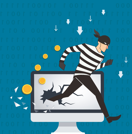 Business concept illustration of a hacker.