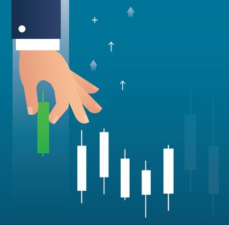 Ilustracja na rynku akcji.