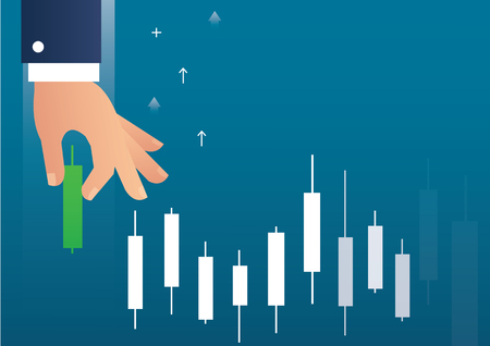 Stock market illustration. Illustration