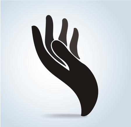 Hands holding design vector, hands pray.