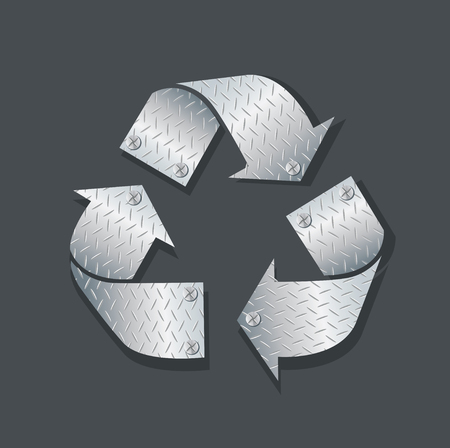 Metal plate recycle icon symbol vector illustration