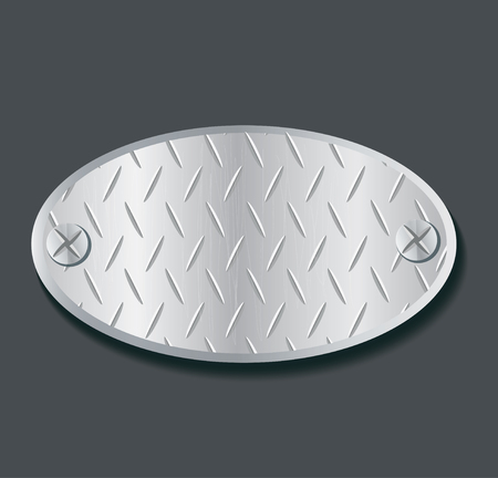 brushed aluminium: Plate metal illustration. Illustration