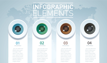 Eyes infographic concept.