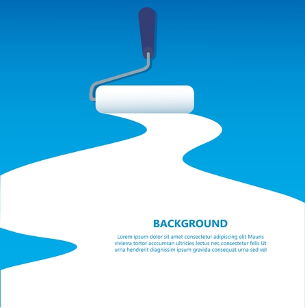 paint roller isolated with space for text and background