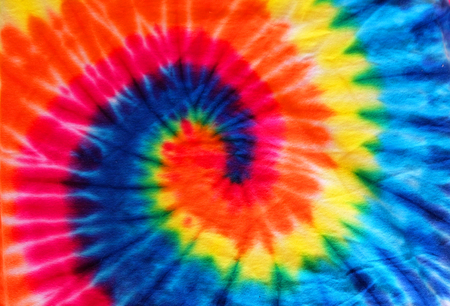 close up tie dye fabric pattern background