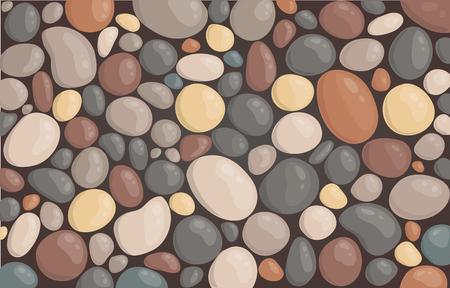 style moderne bouchent illustration vectorielle de fond de pierre ronde fond d'écran