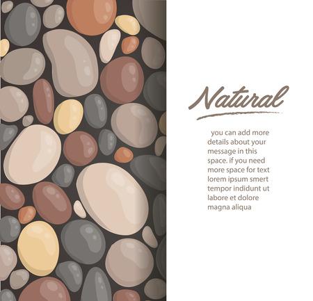 style moderne bouchent fond de pierre ronde et espace pour écrire l'illustration vectorielle