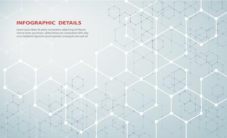 La forme de la technologie abstraite de conception de concept hexagonal Vecteurs