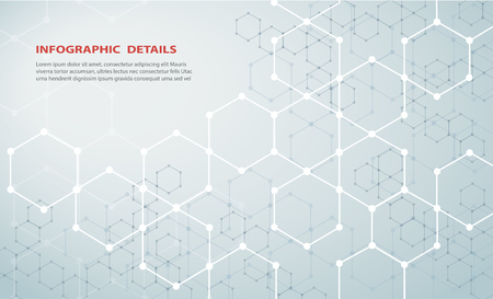 The shape of hexagon concept design abstract technology Vector Illustration