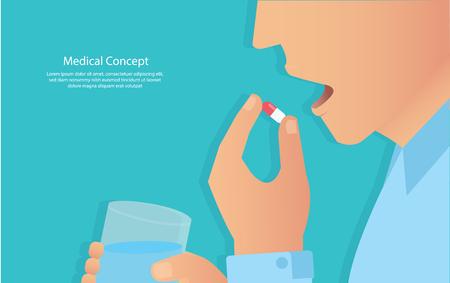 biorąc koncepcję pigułek medycznych ilustracji wektorowych eps10