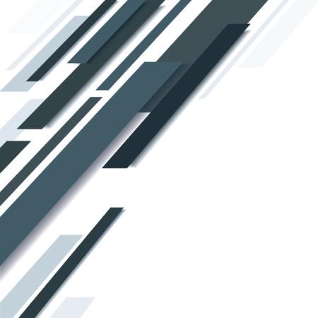 Abstract black line and white Ilustração