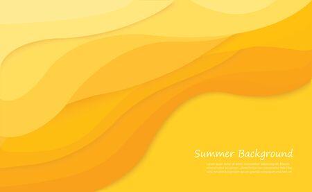 Yellow wavy tone texture