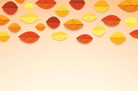 Autumn layout decorate with leaves background vector illustration EPS10