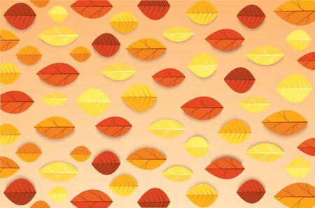 Autumn leaves background vector illustration EPS10 Ilustração