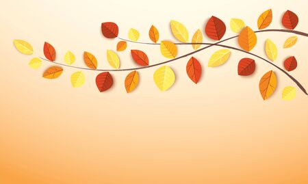 Autumn leaves and space for write background vector illustration EPS10